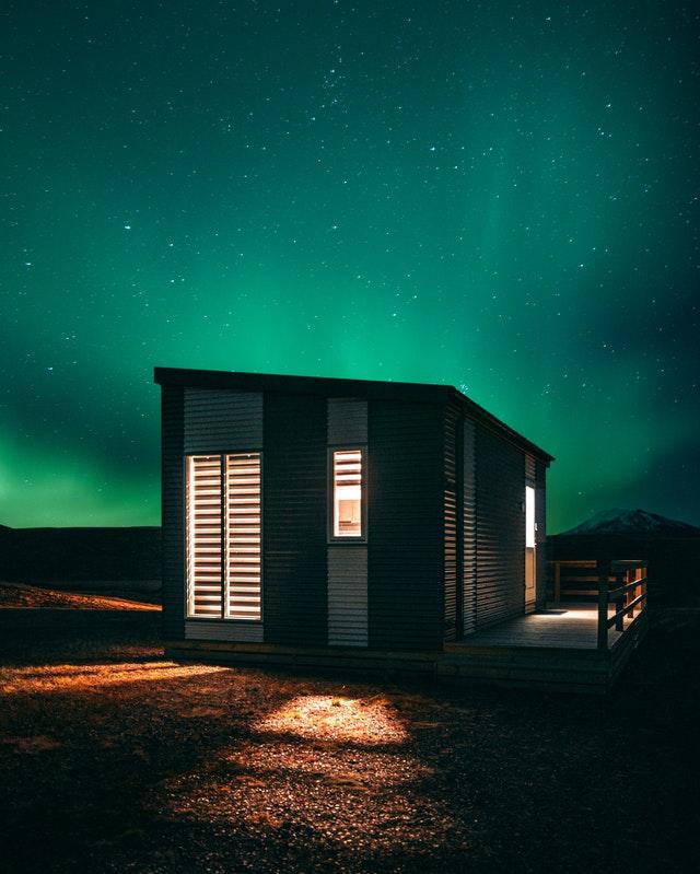 dřevěný mobilní dům